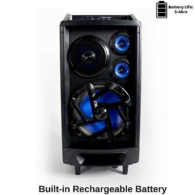 Portable Karaoke Machine Home Audio Bluetooth Speaker System Wireless Microphone 3