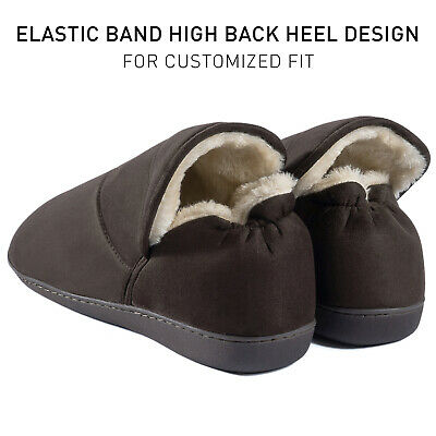 Men's Plush Warm Ankle Bootie Slippers Fuzzy Memory Foam Winter House Shoes 6