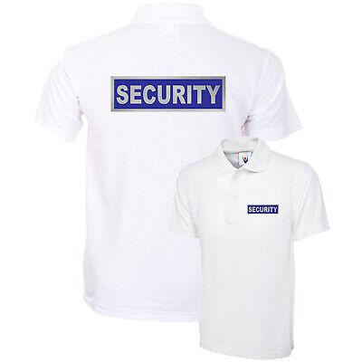 SECURITY Polo Shirt Black WorkWear Doorman Bodyguard Bouncer Guard sia XS-4XL