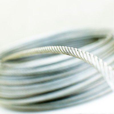 7x19 10m câble acier inox 2mm cordage torons