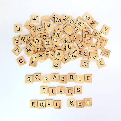 200pcs Wooden Letters Alphabet Scrabble Tiles Black Letters & Numbers For Crafts 4