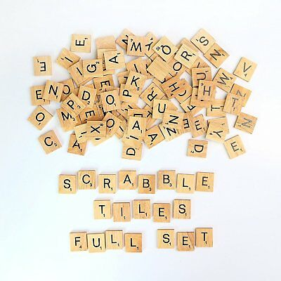500pcs Wooden Letters Alphabet Scrabble Tiles Letters & Numbers For Game &Crafts 2