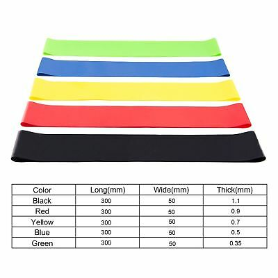 Resistance Bands Loop Set of 5 Exercise Workout CrossFit Fitness Yoga Booty Band 2