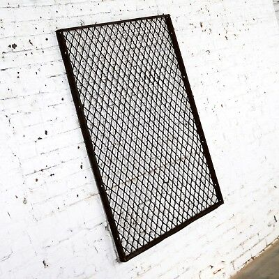 Antique Primitive Industrial Woven Wire Window Security Guard 3