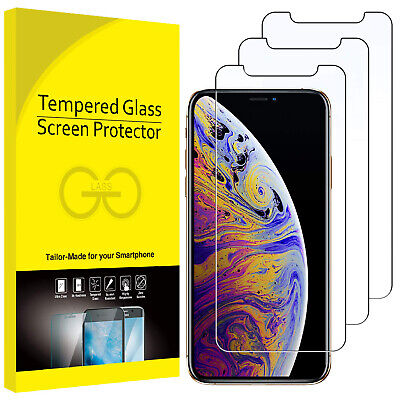 VITRE PROTECTION VERRE TREMPÉ FILM ÉCRAN IPHONE XR X XS MAX 8 7 6 6S Plus LOT 11