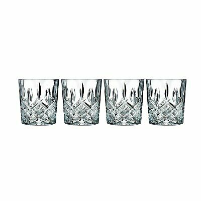 Double Old Fashioned Glasses Waterford Markham Scotch Whiskey Crystal Set of 4 7
