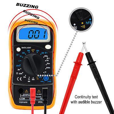Digital Voltmeter Ammeter Ohmmeter Multimeter Volt AC DC Tester Meter US Seller 3