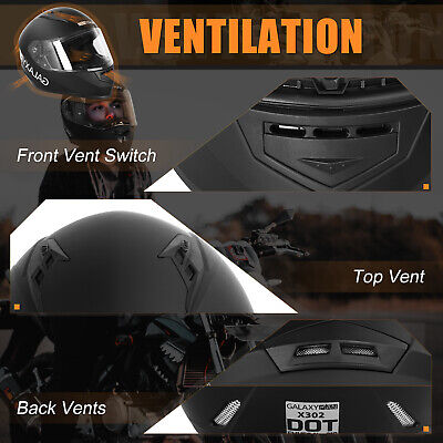 Safety Motorcycle Full Face Helmet Street Motorbike Helmets Racing + FREE GLOVES 3