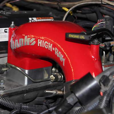 1998.5-2007 Dodge Cummins 5.9L 24V Intake Grid Heater Delete Spacer Red