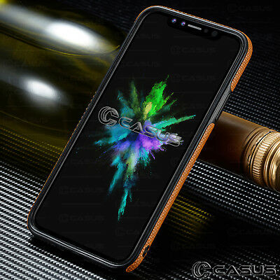 SLIM Luxury Leather Back Ultra Thin TPU Case Cover for iPhone X & 8/7/6s Plus 2