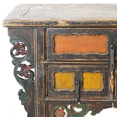 """Antique Chinese Asian 43 """" Wide 3 Drawer Table Coffer Cabinet Vanity 2"""
