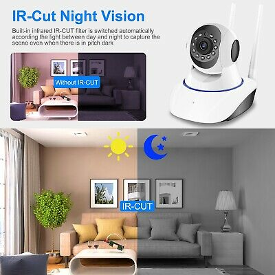 US HD Wireless IP Security Camera Indoor CCTV Home Smart WIFI Baby Monitor 4