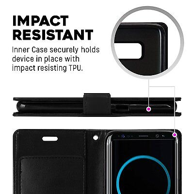 Galaxy S10 S10e S10+ Plus S9 S8 Case  Goospery Wallet Leather Card Slot Samsung 11
