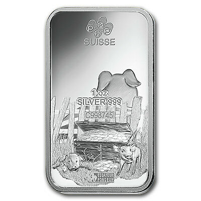 1 oz Silver Bar - PAMP Suisse (Year of the Pig) - SKU#173451 4