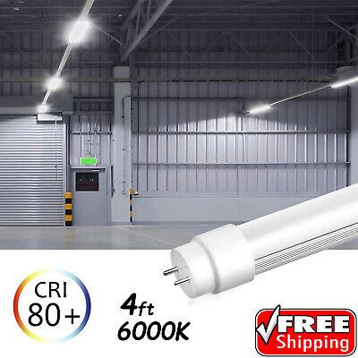 10-100 PACK LED G13 4FT 4 Foot T8 Tube Light Bulbs 18W 6000K CLEAR OR MILKY LENS 3