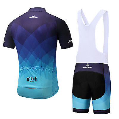 1 of 12FREE Shipping Men s Cycling Bib Kit Bicycle Cycle Jersey (Bib) Shorts  Padded Set Blue S- a5261aa0a