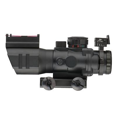 4x32 Tactical Rifle Scope Red & Green &Blue illuminated Reticle Scope 4