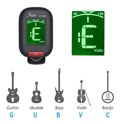 LCD Clip on Chromatic Acoustic electric Guitar Bass Ukulele Banjo Violin Tuner 2