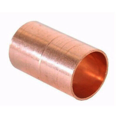 "1/2"" Coupling Rolled Stop C x C Sweat Ends (BAG OF 25) - COPPER PIPE FITTING"