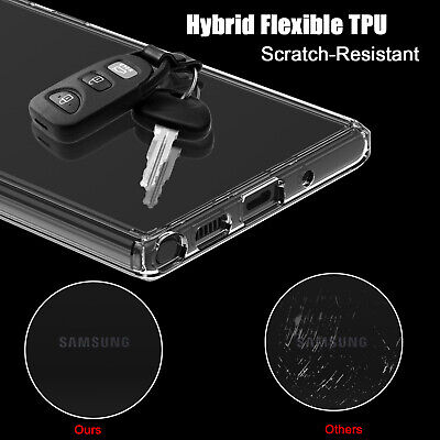 For Samsung Galaxy Note 10+ Plus Pro Hybrid Crystal Clear Armor Phone Case Cover 7