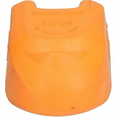 Trailer Pressed Steel Hitch Coupling Soft Cover Protector High Visibility Orange 2