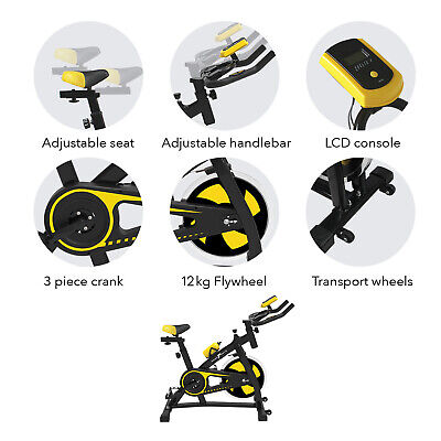 Nero Sports Spin Bike Aerobic Exercise Indoor Training Fitness Gym Spinning New 2