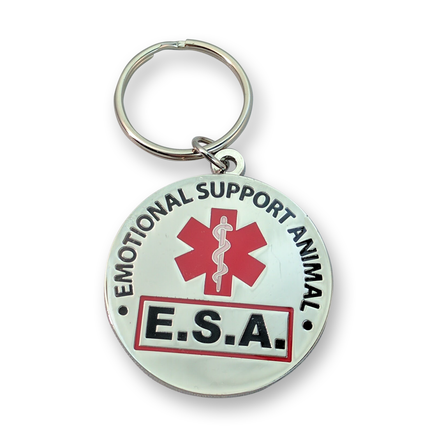 ALL ACCESS CANINE™ Service Dog Emotional Support Animal ESA Metal Dog Collar Tag 3