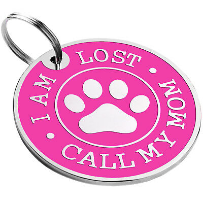 Dog ID Tag Free Custom Personalized Engraved Enamel Pet Puppy Cat Name Charm S L 9
