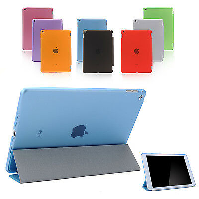 Smart Cover and Hard Back Case for Apple iPad 6th Gen iPad 5 4 3 2 mini Air 3