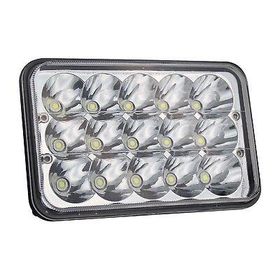 4pcs 4x6 LED Headlights for Kenworth T400 T600 T800 W900L W900B Classic 120/132 2