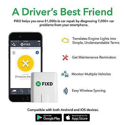 FIXD OBD-II OBD2 Active Car Health Diagnostic Monitor - 2nd Generation 5