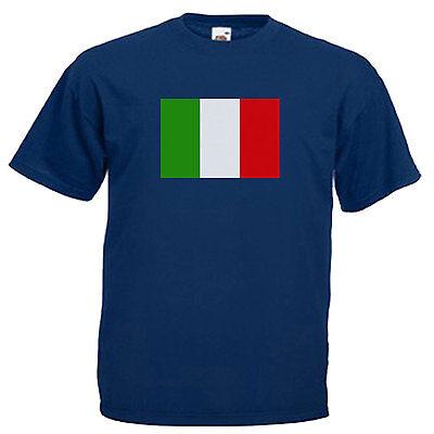 Cup Italy World Kids ITALIAN FOOTBALL FLAG CHILDREN/'S UNISEX T-SHIRT