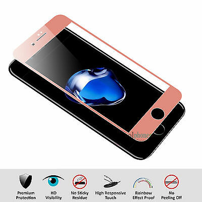 3D Full Coverage Tempered Glass Screen Protector Cover For iPhone 6 6S 7 + Plus 3