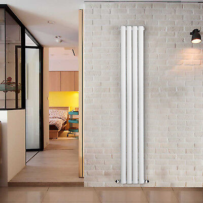 Vertical Tall Upright Designer Radiator Oval Column Central Heating Radiators 2