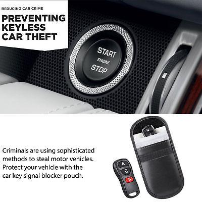 2X Car Key Signal Blocker Case Faraday Cage Fob Pouch Keyless RFID Blocking Bag 4