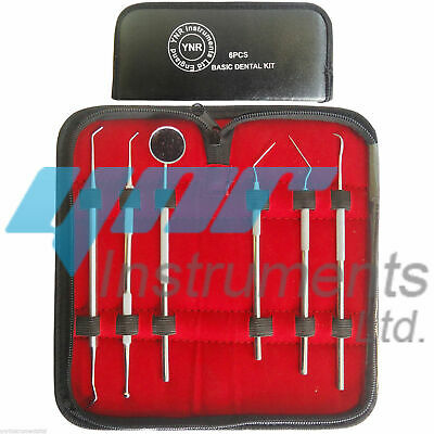 YNR Dental Kit Tooth Scraper Mirror Scale Set Tartar Calculus Plaque Remover 6pc 6