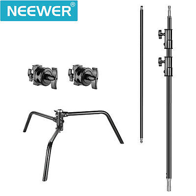Photo Studio 3m Adjustable C-type Light Stand with 1m Holding Arm and Grip Head 5
