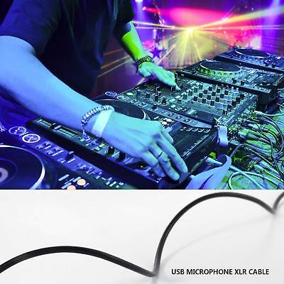 10ft USB Male to MIC 3 Pin XLR Female Microphone Studio Audio Link Cable