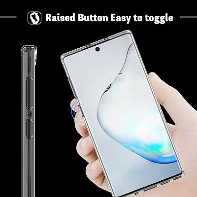For Samsung Galaxy Note 10+ Plus 5G Clear Case With Full Cover Screen Protector 6