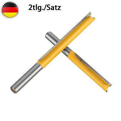2pcs 8mm Schaft Nutfräser Fräser Holzfräser Extra Lang Holzbearbeitung Schneiden