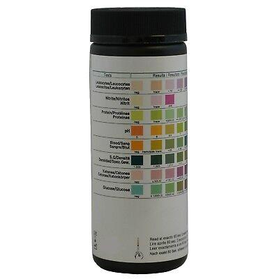 100 x 8 PARAMETER DOCTOR Test Strips Ketone,Glucose,pH,Blood,Urine Infection/UTI