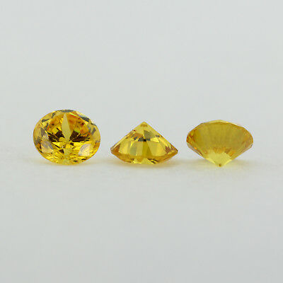 .11ct Loose Round Cut Genuine Medium Yellow Citrine 3 x 3mm