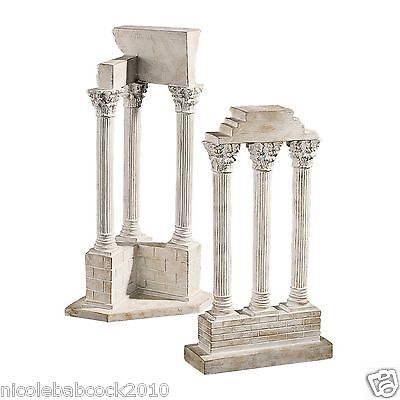 Set Of 2 Ancient Roman Excivated European Column Artifact Sculptures 2 • CAD $126.36