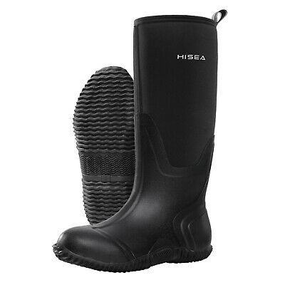 HISEA Women's BREATHABLE Rubber Boots Waterproof Snow & Rain Muck Hunting Boots 11