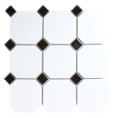 muster keramik mosaik octagon achteck fliesen weiss. Black Bedroom Furniture Sets. Home Design Ideas