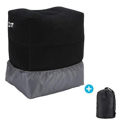 Portable Travel Foot Rest Hammock Flight Carry-on Leg Pillows Footrest Pat Bed 4