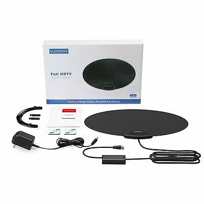 1080P Flat HD Digital Indoor Amplified TV Antenna with Amplifier 70 Miles Range 3
