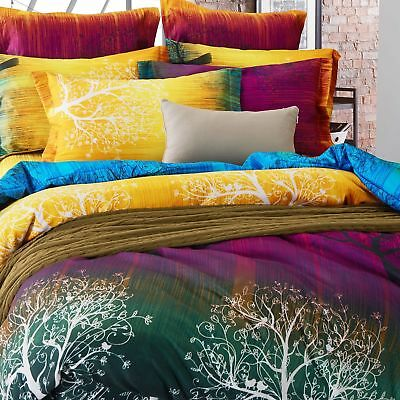 Magic Forest Doona Quilt Duvet Doona Cover Set Single/Double/Queen/King NEW