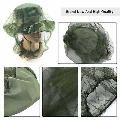 Mosquito Fly Head Net Mesh Hat Bee Insect Bug Mozzie Protector Outdoor Fishing 3