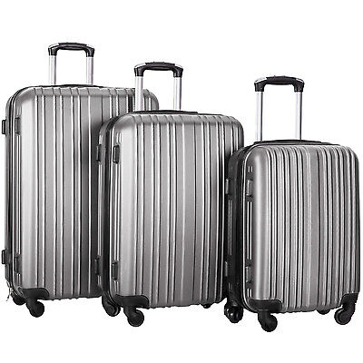 Merax Hylas 3 Piece Hardshell Spinner Luggage Travel Set ABS Trolley Suitcase 3